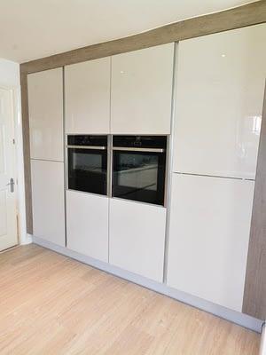 Vasini Kitchen with ovens installed