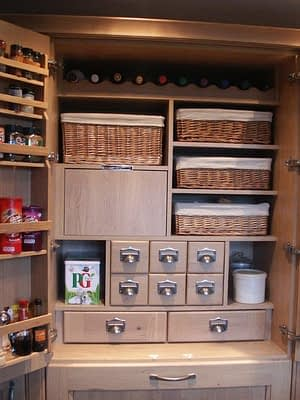 Bespoke kitchen storage area