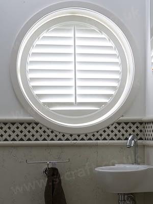round window shutter