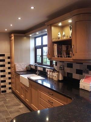 Glossy kitchen work tops