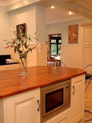 Maximising surface space in large kitchen