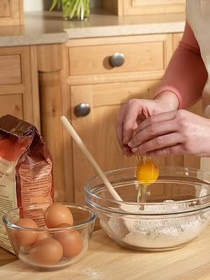 Oak kitchen in use