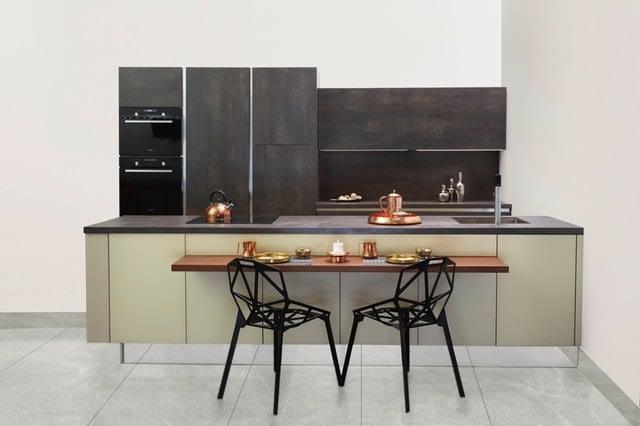 copper elements in kitchen